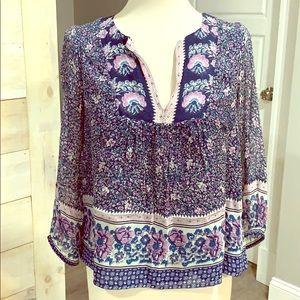 Joie silk floral blouse